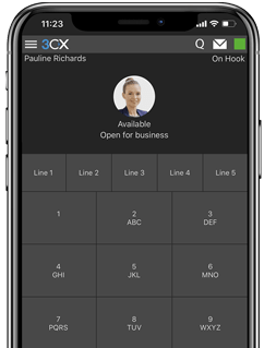 3CX iOS App on mobile phone