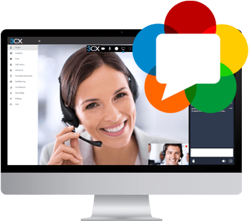 3CX telephone web meeting